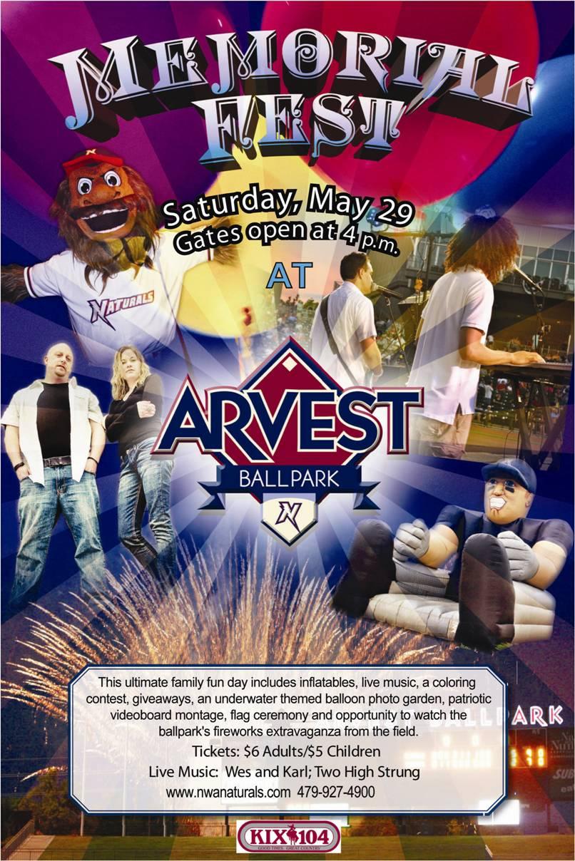 Memorial Fest at Arvest Ballpark
