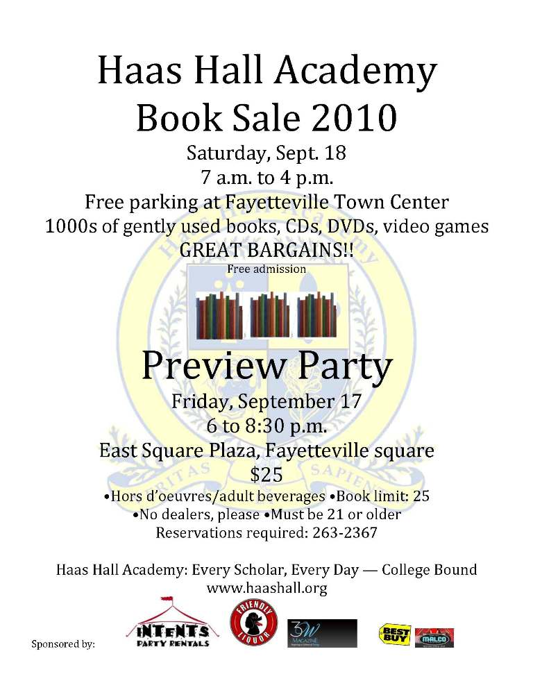 Haas Hall Hosts Book Sale