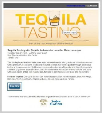 Walton Arts Center Hosts Tequila Tasting