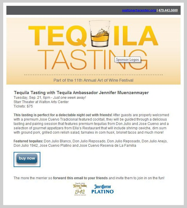 Walton Arts Center Hosts Tequila Tasting