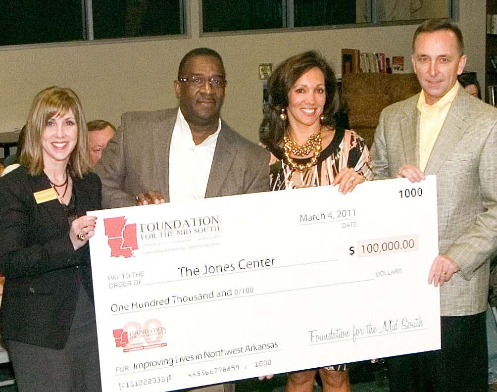 Jones Center Check Presentation