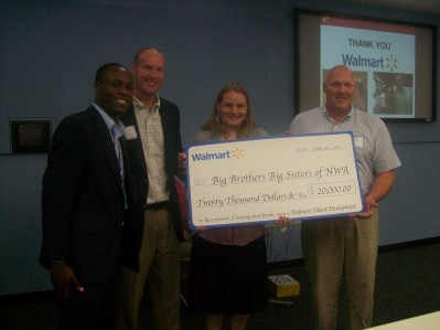 Big Brothers Big Sisters Mentoring Program Receives $20,000 from Walmart