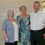 Beth Nunnally; Dr. Becky Paneitz, NWACC President; and George Nunnally