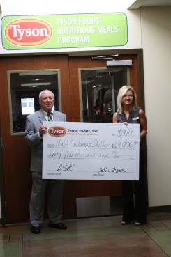 Tyson helps provide balanced meals and snacks for NWA Children's Shelter kids