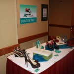 Donation table for the 2013 Walk a Mile In My Shoes...Sale which will be held January 26 at Arvest Ballpark