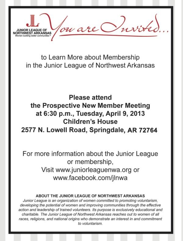 Junior League of Northwest Arkansas seeks New Members, hosts Prospective Member meeting at Children's House