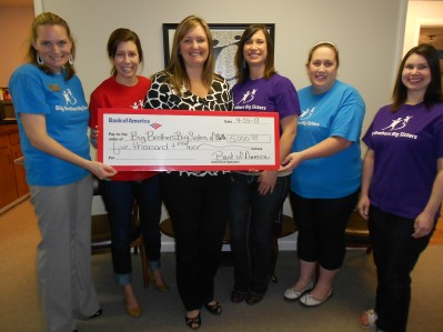 Big Brothers Big Sisters Mentoring Program Receives $5,000 from Bank of America