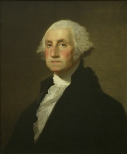 "Gilbert Stuart George Washington, The Rawle-Carnill Portrait 1798 Oil on canvas 39"" x 34"" framed On loan from The Harlan R. Crow Library, Dallas, TX. Photo courtesy of Crystal Bridges Museum of American Art, Bentonville, Arkansas."