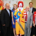 Barbara Rook, Bill Mathews, Stephanie Medford, Ronald McDonald, Dick Trammel, Scott Street and Leah Jones