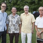 Maestro Paul Haas and Liberty Bank sponsors Dean Redford & J.P. Sexton, with host and SoNA Board member Malcolm Hayward