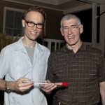Maestro Paul Haas and Dewitt Smith, with the John Williams baton that brought $3,000