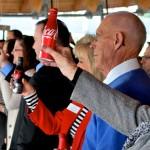 A Coca-Cola toast