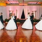 Debutantes and escorts waltzing