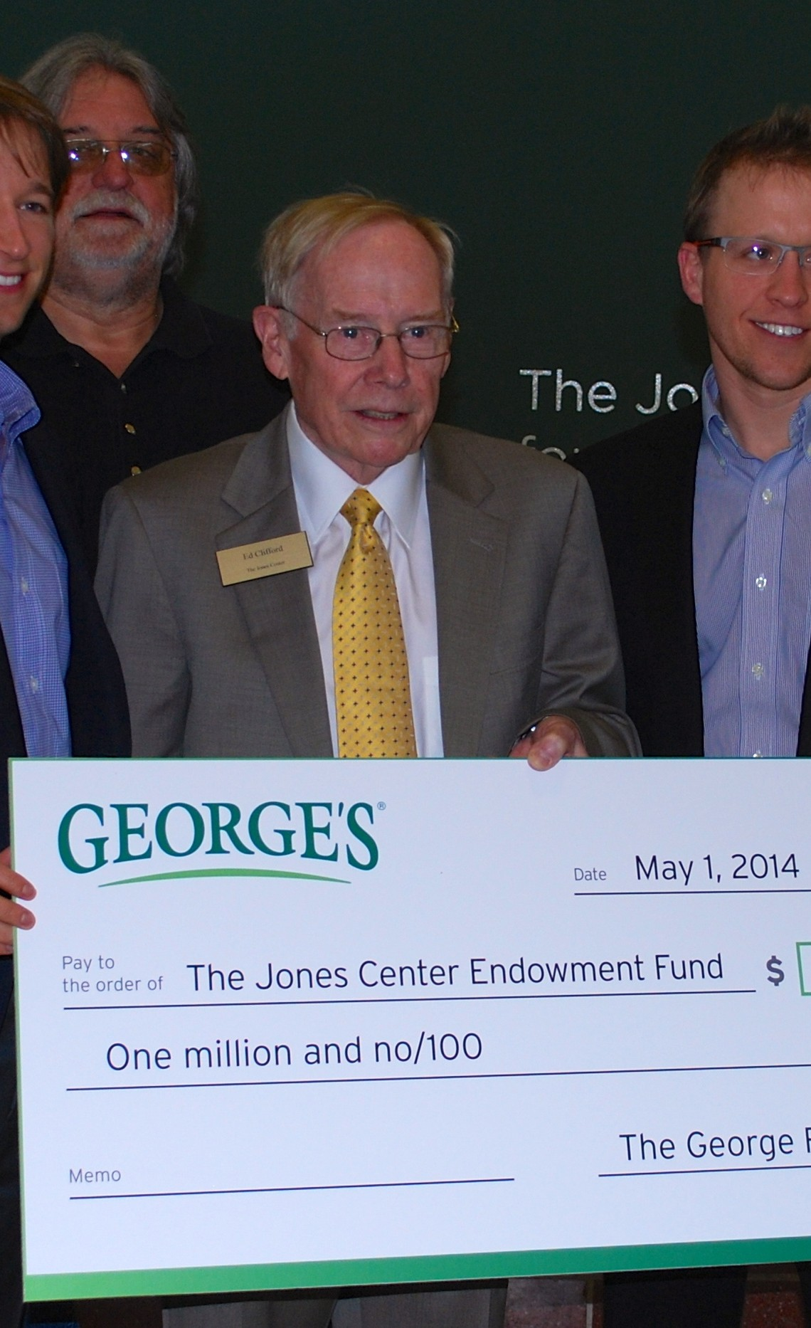 The George Family pledges $1 million to The Jones Center Endowment