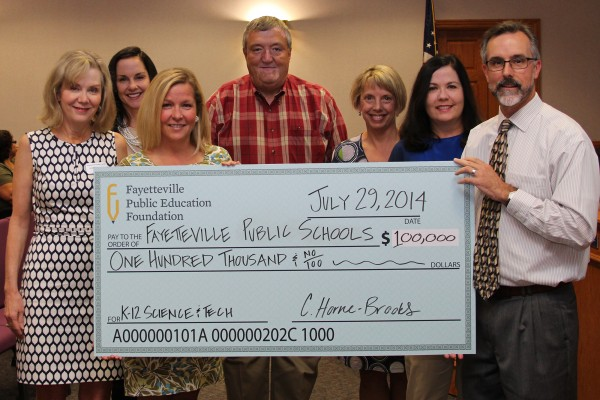 Fayetteville Public Education Foundation gifts $100,000 to FPS