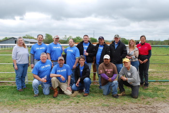 Walmart Team Volunteers at Horses for Healing on Live United Day