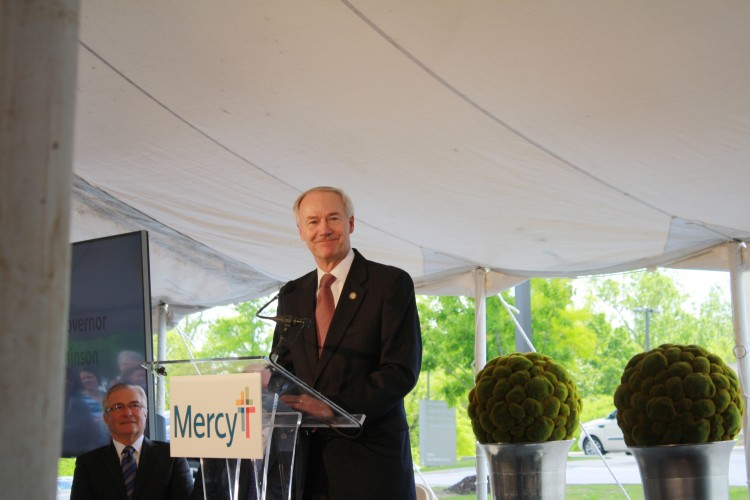 Mercy Northwest Arkansas leaders were joined by Gov. Asa Hutchinson as they announced $247 million expansion plans.