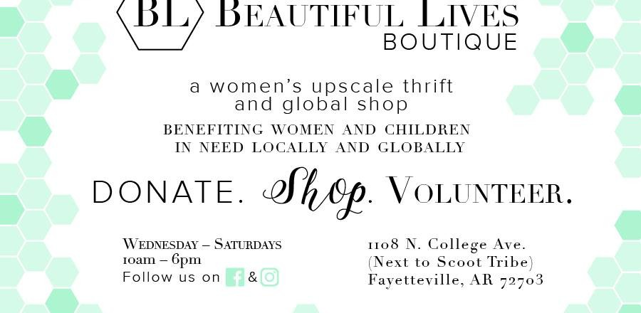 Beautiful Lives Boutique Benefits Abandoned and Abused Women