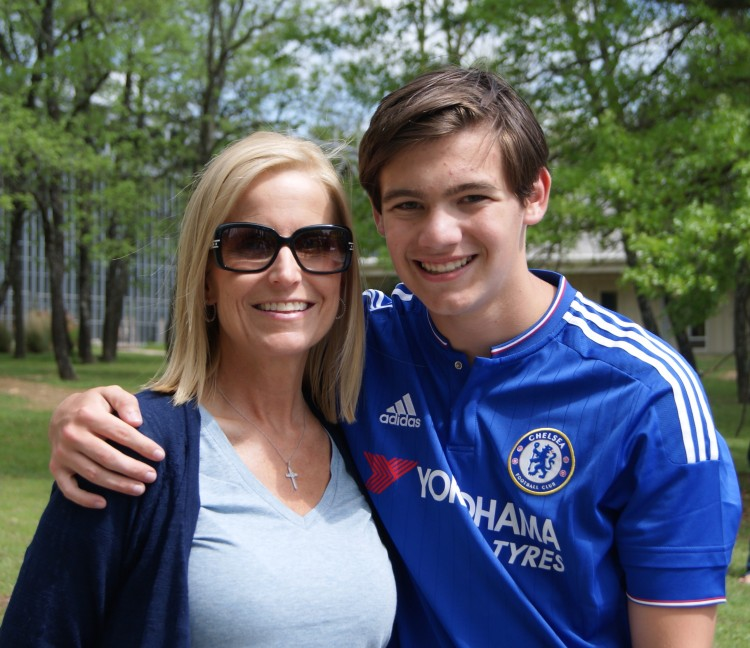 Mandy Hunt with son, Jacob, who will be in the school's first graduating class in 2020