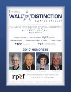 Wall of Distinction flyer 2017