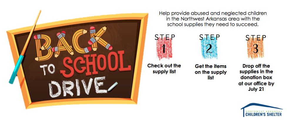 Back to School Drive Supply List