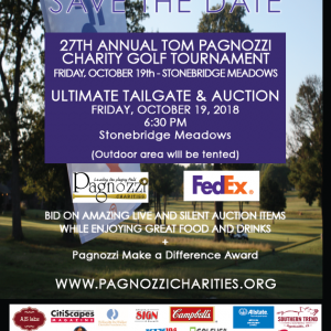 Tom Pagnozzi Charity Golf Tournament, Ultimate Tailgate & Auction