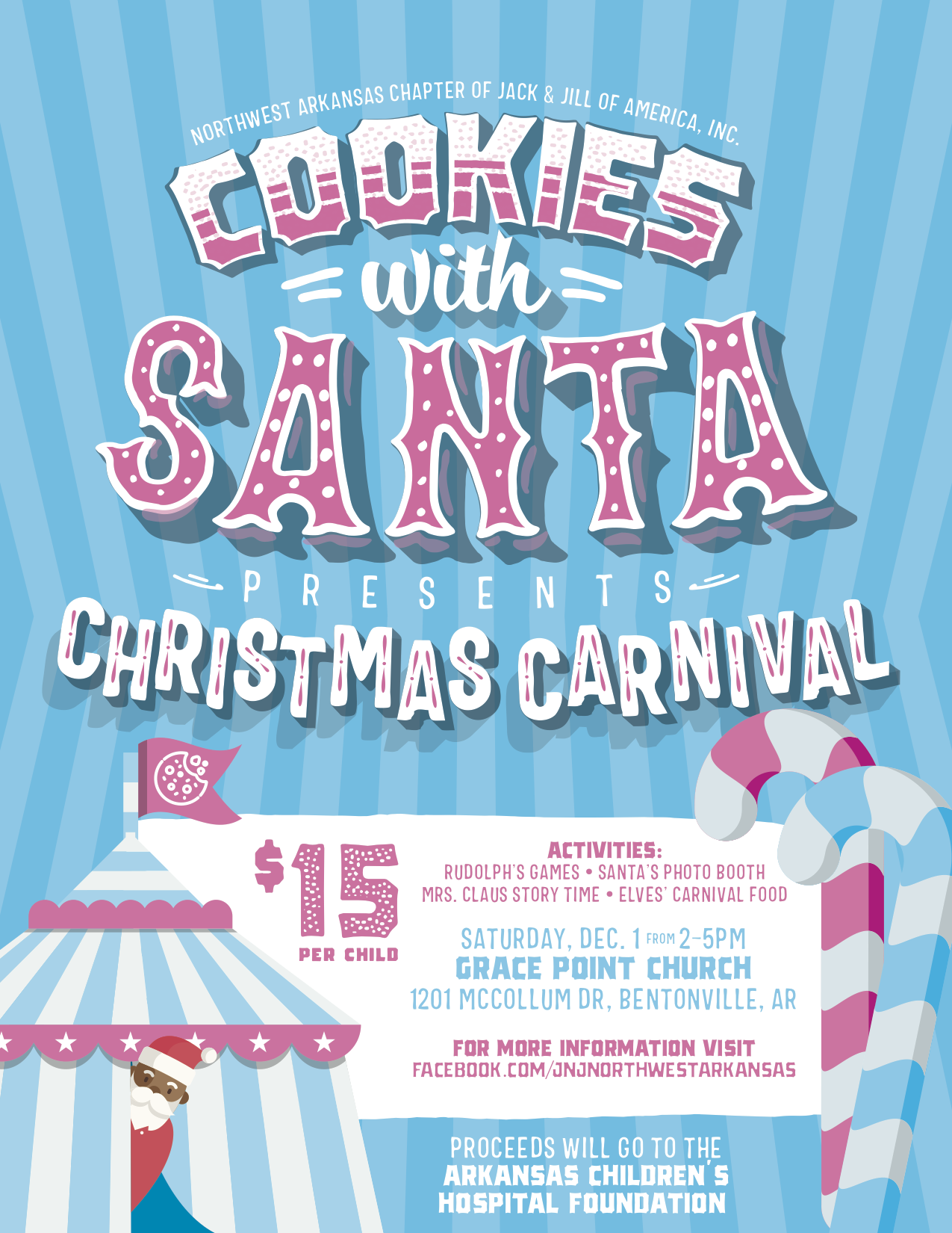 Cookies With Santa Fundraiser