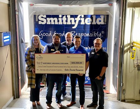 Smithfield Foods and Gallo Family Vineyards Join Forces to Provide Over 30,000 Pounds of Protein and $33,334 to Northwest Arkansas Food Bank